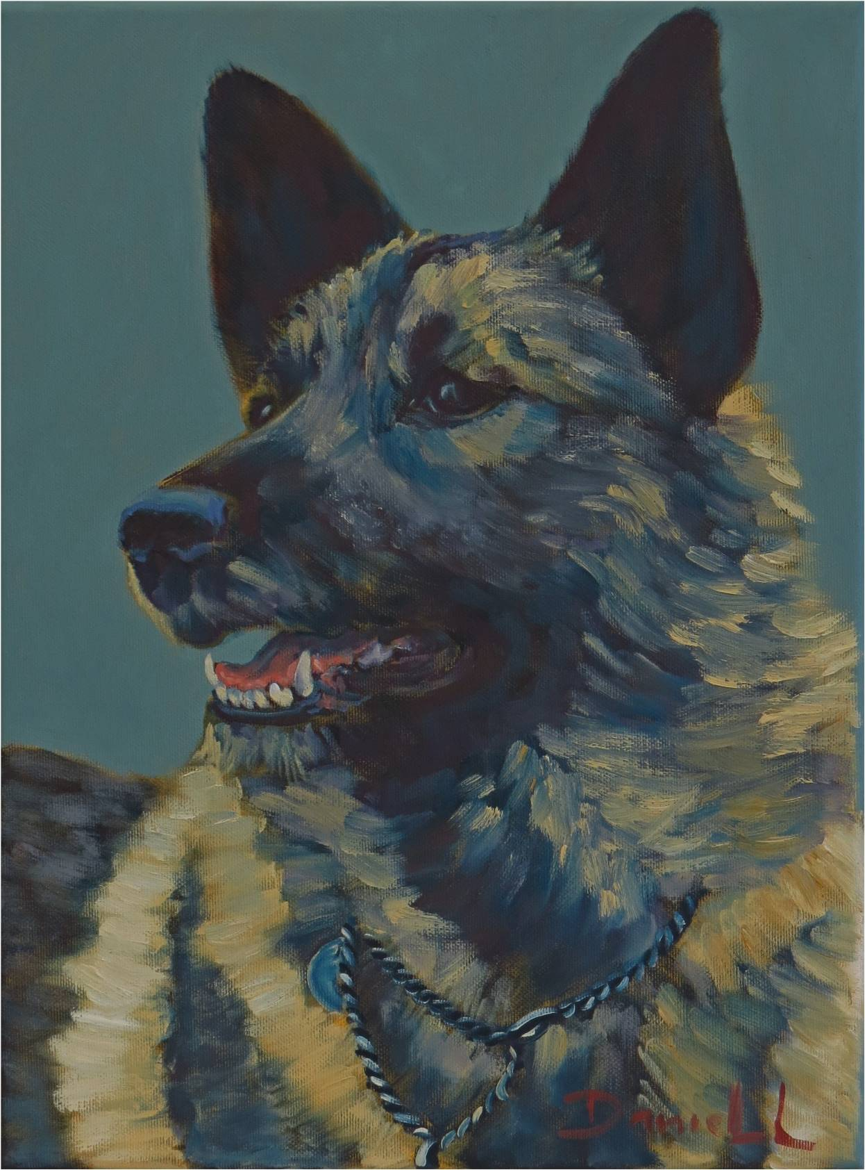 40(Noorse Elkhound)30x40